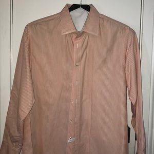Tommy Bahama size Lg white/orange striped shirt